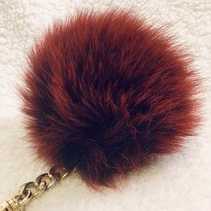 DISCONTINUED Michael Kors fur Pom Pom keychain
